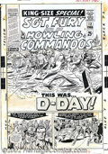 Original Comic Art:Covers, Dick Ayers and John Tartaglione - Original Cover Art for Sgt. Fury and His Howling Commandos Annual #2 (Marvel, 1966). This ...