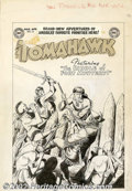 Original Comic Art:Covers, Bob Brown - Original Cover Art for Tomahawk #16 (DC, 1953).Tomahawk fights off a traitorous trader leading the Indian attac...