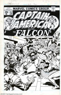 Original Comic Art:Covers, John Buscema and Frank Giacoia - Original Cover Art for CaptainAmerica #217 (Marvel, 1978). Add one angry Nick Fury to one ...