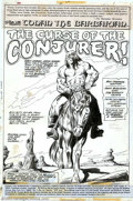 Original Comic Art:Splash Pages, John Buscema and Joe Sinnott - Original Splash Page Art for Conanthe Barbarian #46 (Marvel, 1974). Robert E. Howard's Cimme...