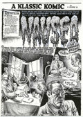 "Original Comic Art:Complete Story, Robert Crumb - Original Art for Hup #3, Complete 9-page Story,""Nausea"" (Last Gasp, 1989). An extremely odd piece of work, t..."