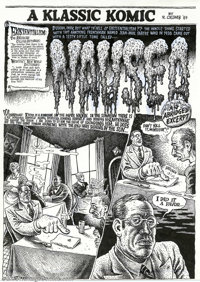 """Robert Crumb - Original Art for Hup #3, Complete 9-page Story, """"Nausea"""" (Last Gasp, 1989). An extremely odd pi..."""