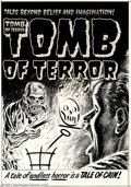 "Original Comic Art:Covers, Lee Elias - Original Cover Art for Tomb of Terror #12 (Harvey,1953). For ""Tales Beyond Belief and Imagination,"" look no fur..."