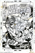 Original Comic Art:Covers, Gil Kane and Frank Giacoia - Original Cover Art for Sub-Mariner #42(Marvel, 1971). Subby is caught in the clutches of a wel...
