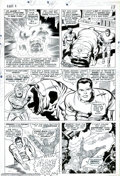 Original Comic Art:Panel Pages, Jack Kirby and Joe Sinnott - Original Art for Fantastic Four #58,page 10 (Marvel, 1967). Kirby and Sinnott are possibly the...