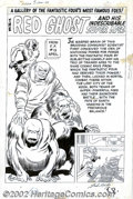 Original Comic Art:Splash Pages, Jack Kirby, Sol Brodsky and Dick Ayers - Original Splash Page Artfor Fantastic Four Annual #1, page 58 (Marvel, 1963). Here...