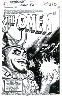 "Larry Lieber - Original Art for Tales of Suspense #53, Complete 5-page Story, ""The Omen"" (Marvel, 1964). This..."