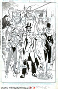 Original Comic Art:Splash Pages, Todd McFarlane - Original Splash Page Art for Infinity, Inc. #34,page 23 (DC, 1986). Injustice Unlimited make a smashing in...