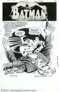 Original Comic Art:Splash Pages, Sheldon Moldoff and Joe Giella - Original Art for Detective Comics#352, page 1 (DC, 1966). A roundhouse right from the Mask...