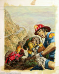 Original Comic Art:Covers, Earl Norem - Original Cover Painting for Emergency #3 (Charlton,1976). Whenever an emergency threatens, you can be sure tha...