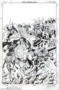 Original Comic Art:Covers, George Perez - Original Cover Art for Avengers Vol. 3, #12 (Marvel,1999). One of the most prolific and influential artists ...