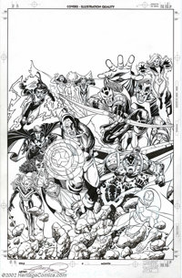 George Perez - Original Cover Art for Avengers Vol. 3, #12 (Marvel, 1999). One of the most prolific and influential arti...