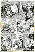 Original Comic Art:Panel Pages, Mike Ploog and Frank Chiaramonte - Original Art for Werewolf byNight #13, page 3 (Marvel, 1974). Held at bay by a fez-weari...