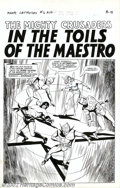 Original Comic Art:Splash Pages, Paul Reinman - Original Splash Page for The Mighty Crusaders #6(MLJ, 1966). In the late 1960's Archie Comics entered the su...