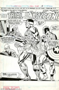 Original Comic Art:Splash Pages, Frank Robbins and D. Bruce Berry - Original Splash Page Art forCaptain America #191 (Marvel,1975). This is a very nice spla...