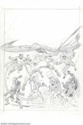 Original Comic Art:Covers, John Romita, Sr. - Original Front and Back Cover Art for MarvelSpecial Edition #1 (Marvel, 1975). Spidey faces off against ...