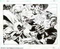 Original Comic Art:Splash Pages, Tim Sale - Original Art for Batman: Dark Victory #13, page 34 and35 (DC, 2000). Tim Sale delivers this jaw-shattering image...