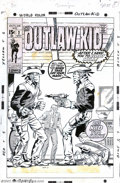 Original Comic Art:Covers, Herb Trimpe and Bill Everett - Original Cover Art for The OutlawKid #2 (Marvel, 1970). Not one, but two Outlaw Kids face of...