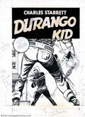 Original Comic Art:Covers, Unknown Artist - Original Cover Art for Durango Kid #14 (ME, 1951).Here is a fantastic western-themed original cover. It ha...