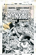 Original Comic Art:Covers, Ron Wilson, Frank Giacoia and Mike Esposito - Original Cover Artfor Frankenstein #13 (Marvel, 1974). Mary Shelley's immorta...