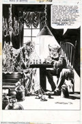 Original Comic Art:Splash Pages, Berni Wrightson - Original Title Page for House of Mystery #211(DC, 1973). Not too many artists are able to juggle horror a...