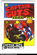 """Bronze Age (1970-1979):Alternative/Underground, Captain Guts #2 (Print Mint, 1970). Captain Guts smashes the """"Black Phantom Elite Power Party"""" and falls for its leader ..."""