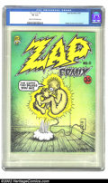 Silver Age (1956-1969):Alternative/Underground, Zap Comix #0 (Apex Novelties, 1967) CGC VF 8.0 Cream to off-whitepages. A solid first print of one of the most important un...