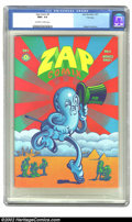 Silver Age (1956-1969):Alternative/Underground, Zap Comix #4 Don Schenker File Copy (Apex Novelties, 1969) CGC NM+9.6 Off-white to White pages. Victor Moscoso does this st...