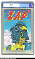 Bronze Age (1970-1979):Alternative/Underground, Zap Comix #7 Don Schenker File Copy (Apex Novelties, 1974) CGC VF- 7.5 Off-white pages. This book, from the popular Zap ...