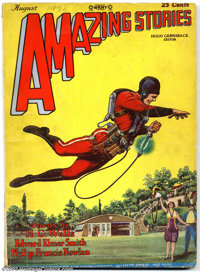 Amazing Stories Vol. 3, #5 (Ziff-Davis, 1928) Condition: VG/FN. Buck Rogers, the first and foremost science fiction hero...