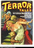 "Pulps:Horror, Terror Tales (Pulp) March 19403 (Popular, 1940) Condition: VF-.These Egyptologists got a little too ""wrapped up"" in their w..."