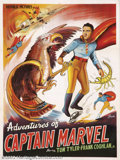 Movie Posters:Serial, Adventures of Captain Marvel (Republic, 1941).Indian One Sheet.Starring: Tom Tyler. This early Eastern Indian poster printe...