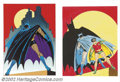"""Movie Posters:Serial, Batman - Bob Kane Signed Prints (Circle Galleries, 1978)This lotconsists of five (5) attractive prints (Approx 25"""" X 33"""") e...(Total: 5 Item)"""