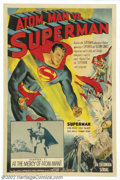 "Movie Posters:Serial, Atom Man vs. Superman (Columbia, 1950).One Sheet (27"" X 41""). Starring: Kirk Alyn, Noel Niell. Very nice serial sheet from t..."