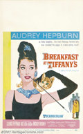"Movie Posters:Comedy, Breakfast At Tiffany's (Paramount, 1961).Window Card (14"" X 22"").Dir. Blake Edwards. Starring: Audrey Hepburn, George Peppa..."