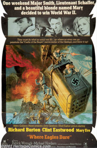Where Eagles Dare (MGM, 1968).Standee. Starring: Clint Eastwood, Richard Burton, Mary Ure. Very Rare standee from the or...