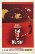 "Movie Posters:Horror, Dial M For Murder (Warner Brothers, 1954).One Sheet (27"" X 41""). Dir. Alfred Hitchcock. Starring: Ray Milland, Grace Kelly, ..."