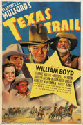 "Movie Posters:Western, Texas Trail (Paramount, 1937).One Sheet (27"" X 41"").Dir. DavidSelman. Starring: William Boyd, Russell Hayden, George ""Gabby..."