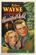 "Movie Posters:Western, Haunted Gold (Warner Brothers - First National, 1932).One Sheet(27"" X 41""). Dir. Mack Wright. Starring: John Wayne, Sheila ..."