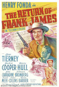 "Movie Posters:Western, Return of Frank James, The (20th Century Fox, 1940).One Sheet (27""X 41"").Dir. Fritz Lange. Starring: Henry Fonda, Gene Tier..."