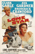 "Movie Posters:Western, Lone Star (MGM, 1952).One Sheet (27"" X 41""). Dir. Vincent Sherman.Starring: Clark Gable, Ava Gardner. Fine. ..."