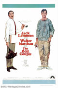 "Movie Posters:Comedy, Odd Couple, The (Paramount, 1968). One Sheet (27"" X 41"") Dir. GeneSaks, Screenplay Neil Simon, Jack Lemmon, Walter Matthau...."