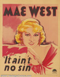 """Movie Posters:Comedy, It Ain't No Sin (Paramount, 1934).Window Card (14"""" X 18"""").Dir. LeoMcCarey. Starring: Mae West, Roger Pryor. Formally titled..."""