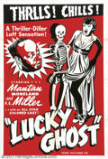 "Movie Posters:Comedy, Lucky Ghost (Toddy Pictures, R-1943).One Sheet (27"" X 41"").Starring: Matan Moreland, F.E. Miller. Fine/Very Fine. ..."