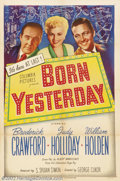 "Born Yesterday (Columbia, 1950).One Sheet (27"" X 41"").Dir.George Cukor. Starring: Judy Holliday, Broderick Cra..."