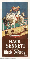 "Movie Posters:Comedy, Black Oxfords (Pathe', 1924).Three Sheet (41"" x 81""). Prod. MackSennett. Very Fine+ on Linen. ..."