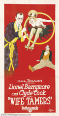 "Movie Posters:Comedy, Wife Tamers (Pathe', 1926).Three Sheet (41"" x 81""). Dir. JamesHorne. Starring: Lionel Barrymore, Clyde Cook. Gorgeous Stone..."