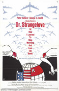 "Movie Posters:Comedy, Dr. Strangelove or: How I Learned to Stop Worrying and Love theBomb. (Columbia, 1964).One Sheet (27"" X 41"").Dir. Stanley Ku..."