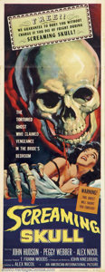 "Movie Posters:Horror, Screaming Skull (AIP, 1958).Insert (14"" X 36"").Dir. Alex Nicol. Starring:John Hudson, Peggy Weber. Fine-, Folded with a numb..."