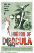 """Movie Posters:Horror, Horror of Dracula (Warner Brothers, 1958).One Sheet( 27"""" X 41""""). Dir. Terence Fisher. Starring: Christopher Lee, Peter Cushi..."""